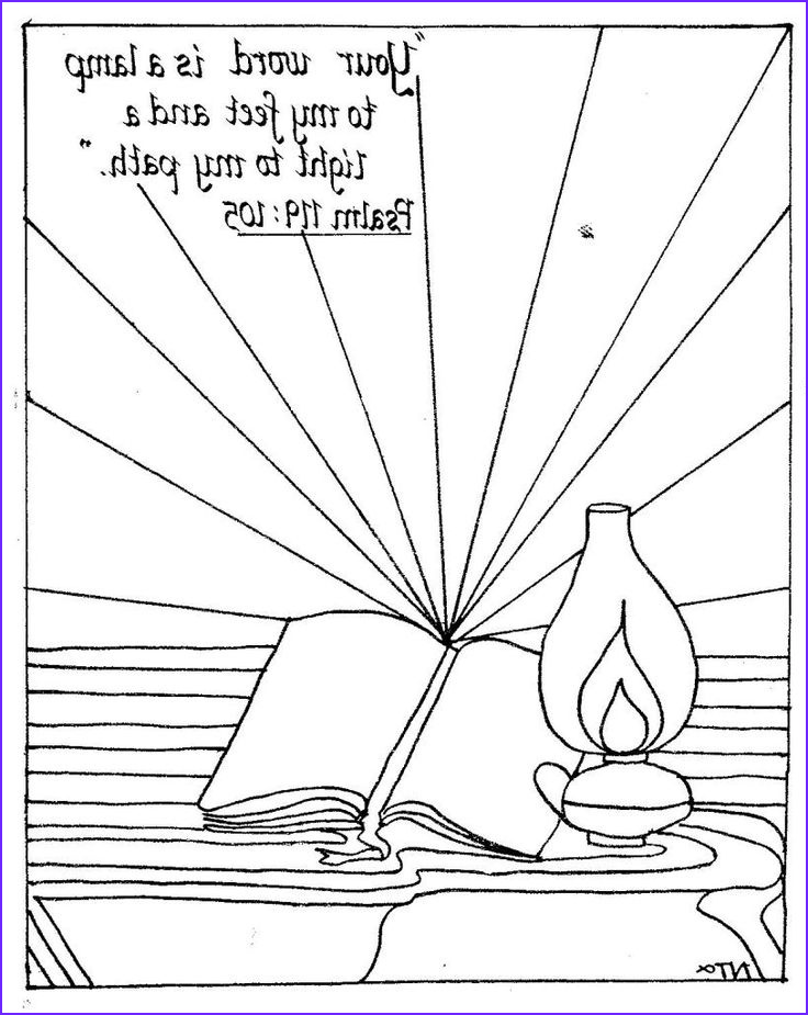 Thy Word is A Lamp Unto My Feet Coloring Page Beautiful Photos Bible