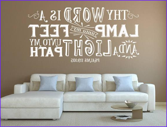 psalm wall decal thy word is a