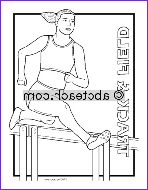 clip art track and field coloring page