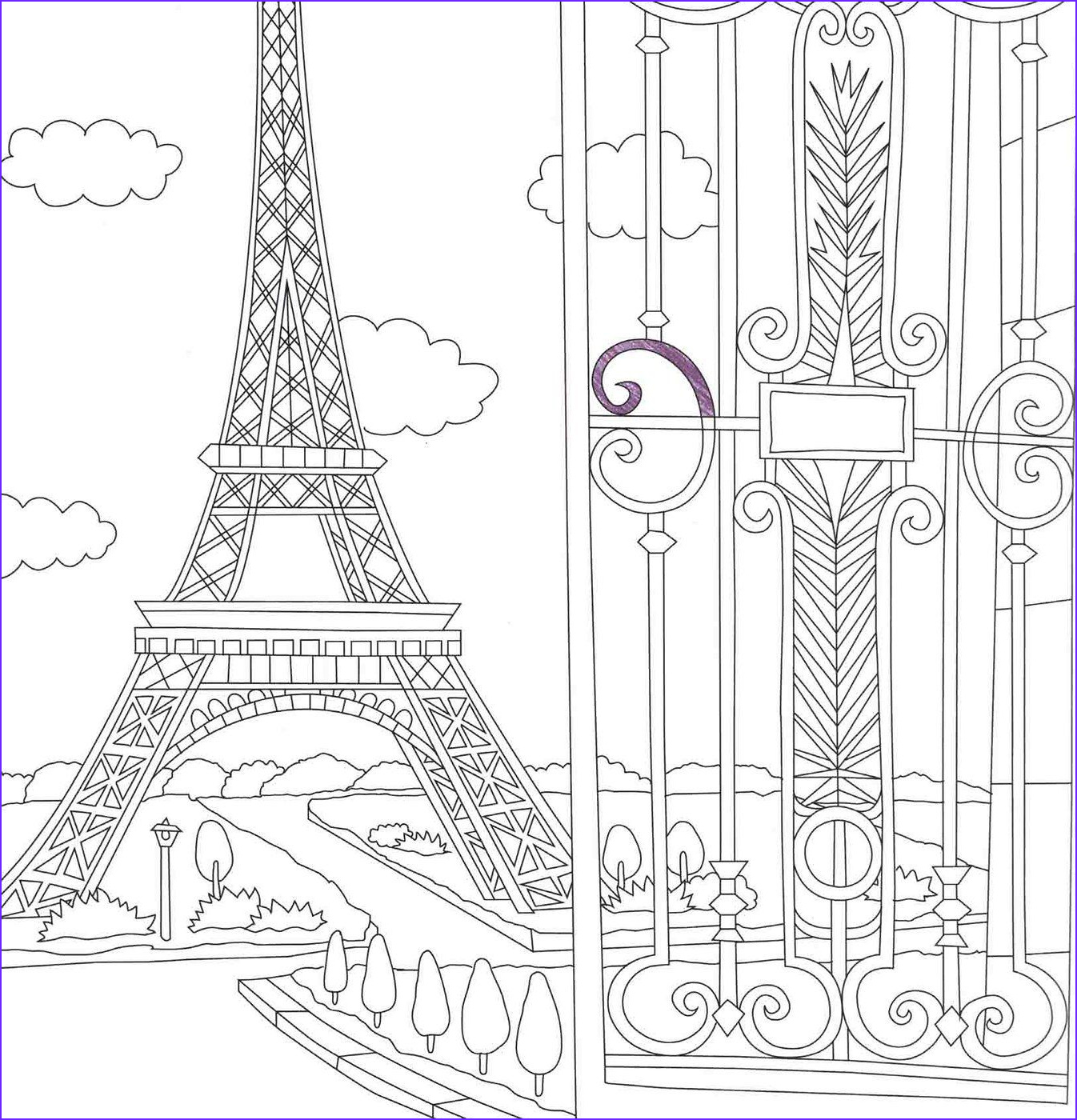 Travel Adult Coloring Book Awesome Images France Coloring Travel Book