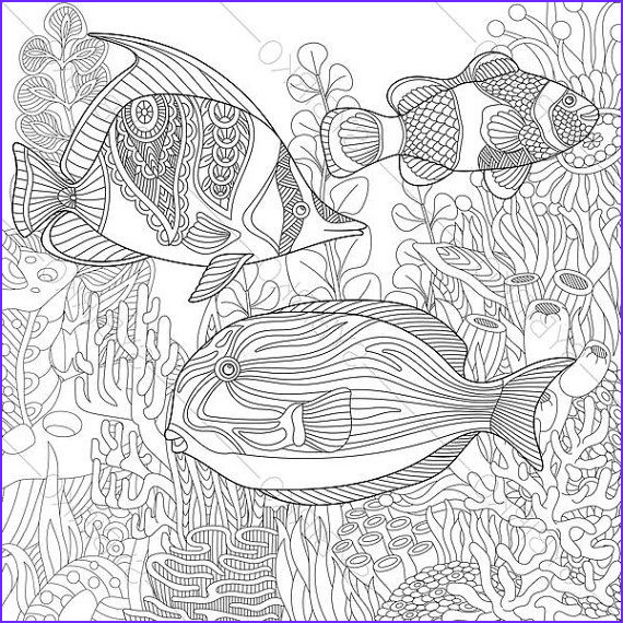 Tropical Coloring Page for Adults Cool Photos Ocean World Tropical Fishes Coloring Pages Animal