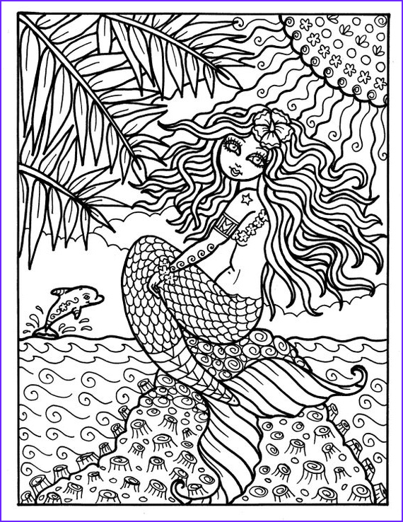 instant digi stamp mermaid from