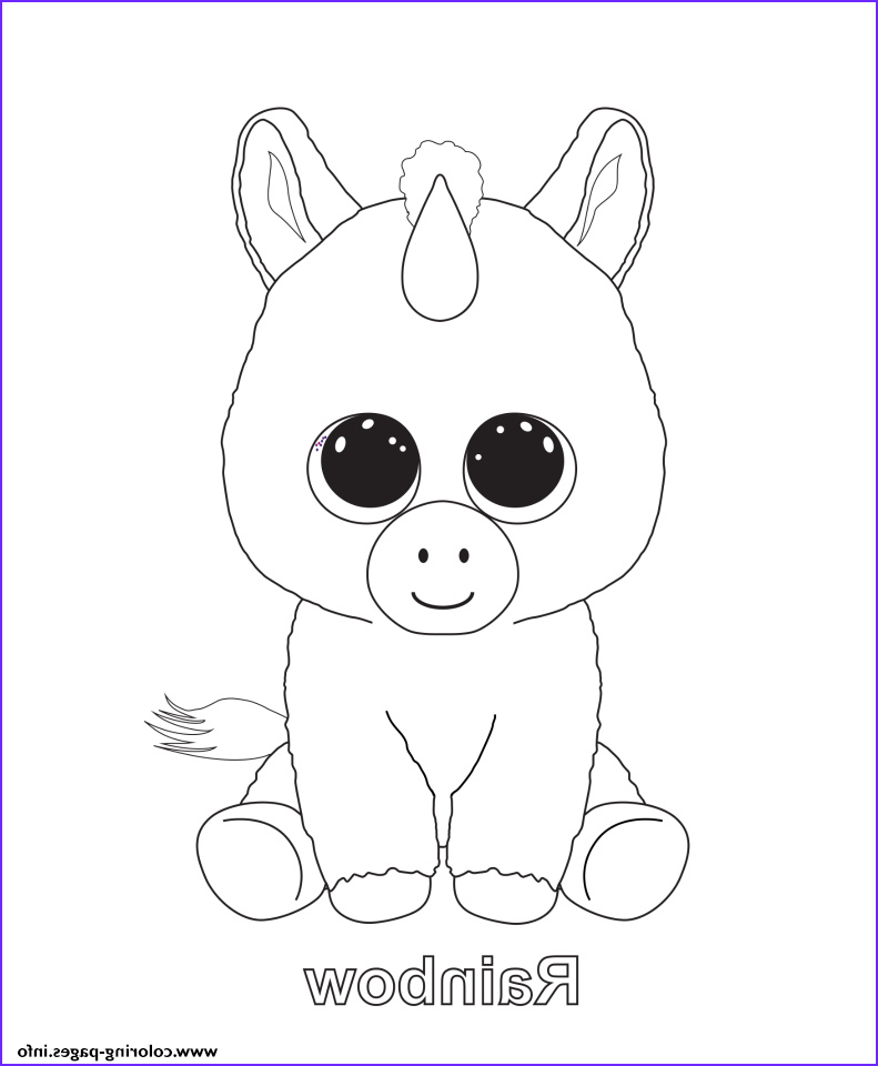 Ty Beanie Boo Coloring Page Awesome Photos Print Rainbow Beanie Boo Coloring Pages Kids