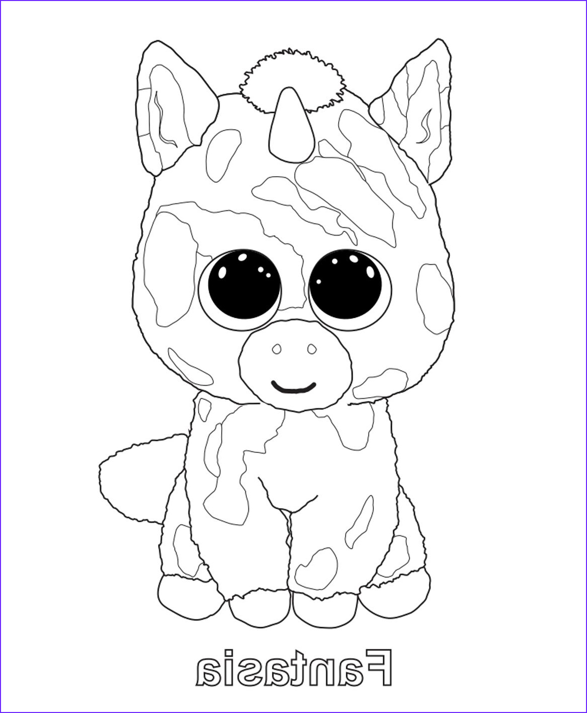 Ty Beanie Boo Coloring Page Awesome Stock Print Me Fantasia Ty Beanie Boo