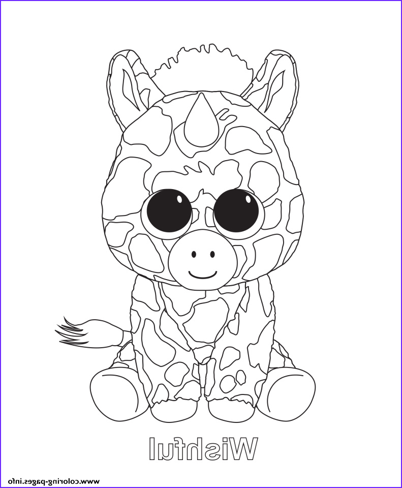 Ty Beanie Boo Coloring Page Beautiful Collection Print Wishful Beanie Boo Coloring Pages