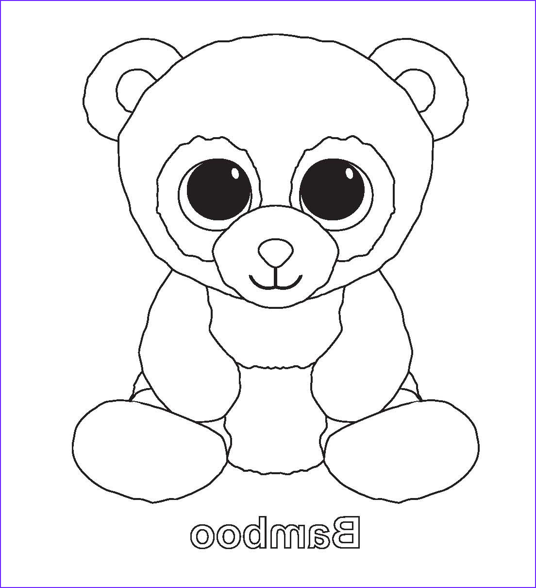 Ty Beanie Boo Coloring Page Elegant Gallery Bamboo Ty Beanies