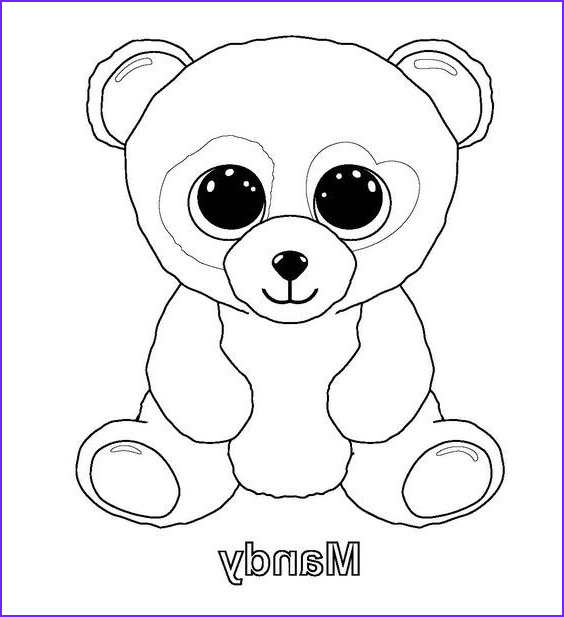 Ty Beanie Boo Coloring Page Inspirational Collection Ty Beanie Boos Coloring Pages