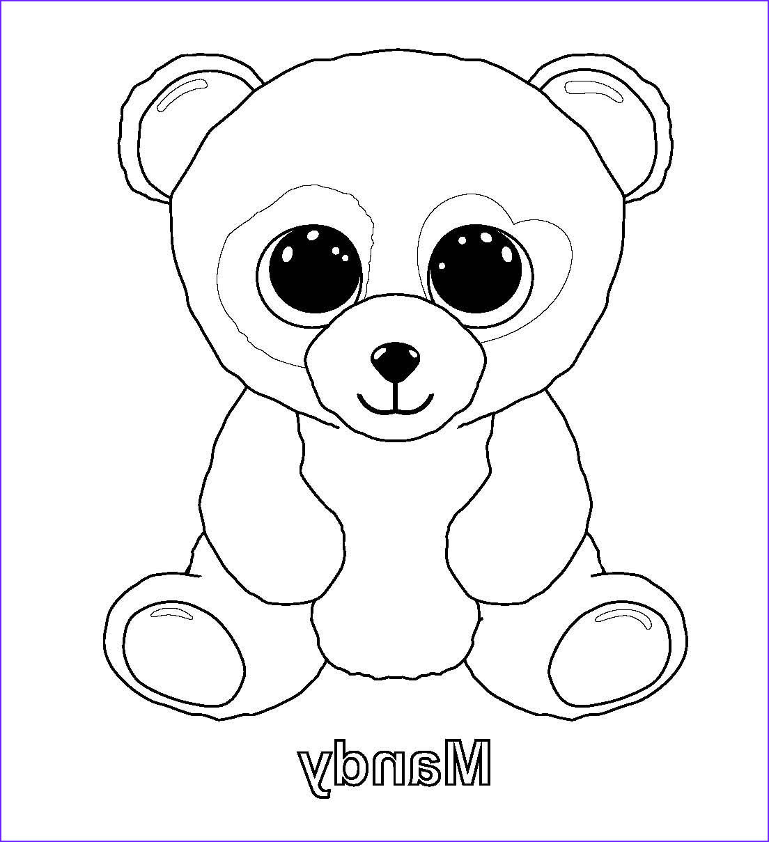 Ty Beanie Boo Coloring Page New Photos Ty Beanie Boos Coloring Pages