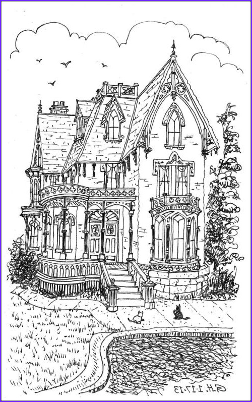 Victorian House Coloring Page Best Of Image Victorian Fancy and Fantasy Art Pinterest