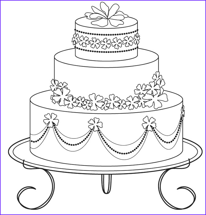 Wedding Cake Coloring Awesome Collection Wedding Cake Coloring Pages 03