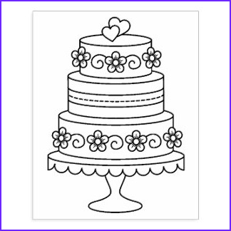 Wedding Cake Coloring Beautiful Photos Tiered Cake Coloring Pages