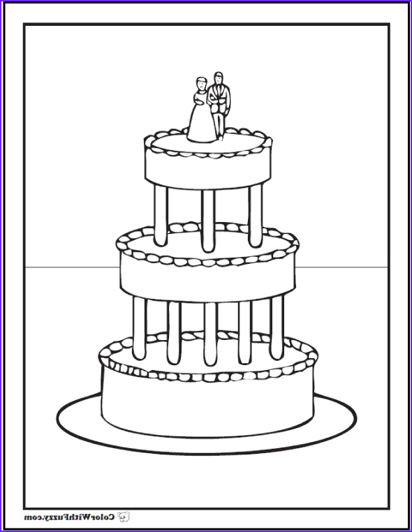 Wedding Cake Coloring Inspirational Image 20 Cake Coloring Pages Customize Pdf Printables