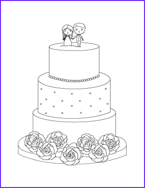 Wedding Cake Coloring New Image Free Printable Coloring Pages