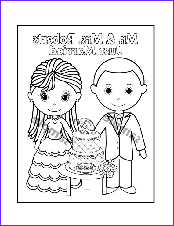 Wedding Coloring Book Template Beautiful Gallery Printable Personalized Wedding Coloring Activity Book Favor