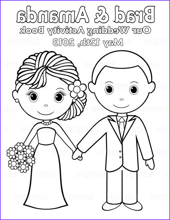 Wedding Coloring Book Template Elegant Stock Printable Personalized Wedding Coloring Activity Book
