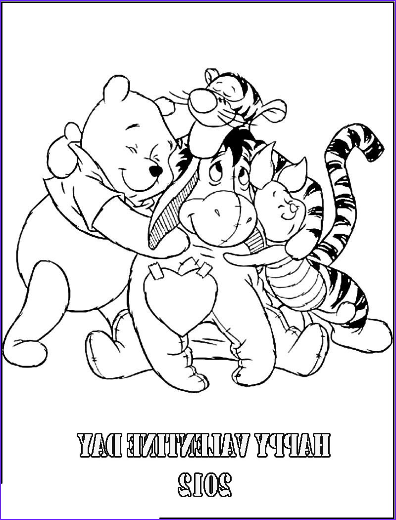 Winnie the Pooh Coloring Page Luxury Images Winnie the Pooh Valentines Coloring Pages