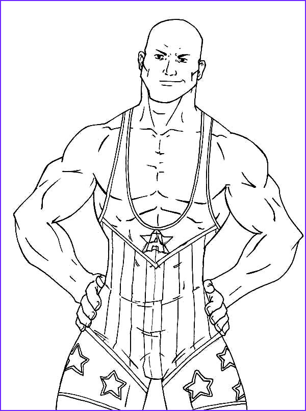 strong wrestling contender coloring page