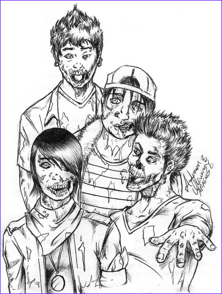Zombie Adult Coloring Book Inspirational Photos Four Zombie Coloring Page Zombie Coloring